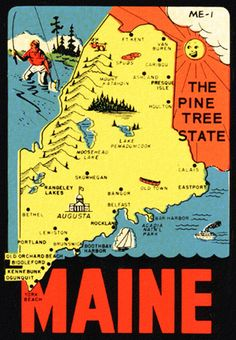 Maine… the Pine Tree State  via Roger Wilkerson