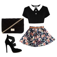 Designer Clothes, Shoes & Bags for Women Skater Skirt, Shoe Bag, Maya, Polyvore Fashion, Skirts, Summer, Forever 21, Stuff To Buy, Shopping