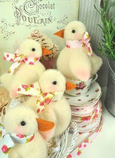 PDF - Shabby Chicks Felt Pattern - Easter Decorations £6.50