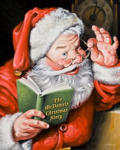 personalized santa painting