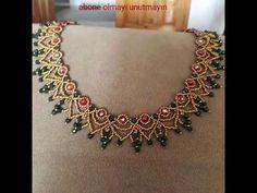 Seed Bead Necklace, Seed Bead Jewelry, Bead Jewellery, Diy Necklace, Necklaces, Beaded Necklace Patterns, Beaded Earrings, Beaded Bracelets, Jewelry Crafts