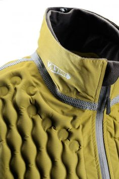 Argon gas insulated vest, fabric, yellow