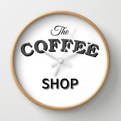 The Coffee Shop - Wall Clock Wall Clock by Whistle&Hum - $30.00