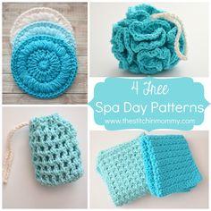 4 Free Spa Day Patterns and Honey Lemon Sugar Scrub   www.thestitchinmommy.com #spa #crochet #sugarscrub #honey #lemon #recipe