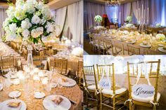 Real Wedding: Sabrina and Bancroft's table setting at the @Four Seasons Hotel Washington, DC