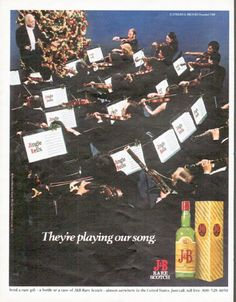 "Description: 1979 J SCOTCH vintage magazine advertisement ""They're playing our song."" -- They're playing our song. ... J Rare Scotch ... Justerini & Brooks Founded 1749 -- Size: The dimensions of the full-page advertisement are approximately 10.25 inches x 13 inches (26 cm x 33 cm). Condition: This original vintage full-page advertisement is in Excellent Condition unless otherwise noted."