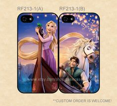 RF213-1 Disney Tangled Rapunzel and Flynn Couple Case, iPhone 4/4s/5/5s/5C, Samsung Galaxy S2/S3/S4/S5/Note 2/3, Htc One S/X/M7 on Etsy, $27.99
