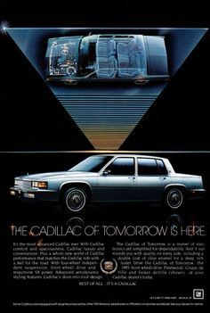 vtg CADILLAC 1984 print ad magazine page clipping car automobile advertisement Car Advertising, Ads, Car Brochure, Cadillac Fleetwood, Us Cars, My Ride, Buick, Luxury Cars, Vintage Cars