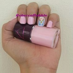 Pretty Pink Nails using Alma #136