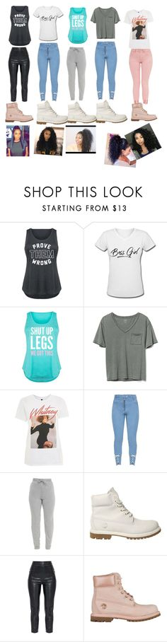 """Untitled #131"" by liyahbaby53 ❤ liked on Polyvore featuring Gap, And Finally, Timberland and plus size clothing"