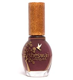Sheswai  Nail Lacquer in What (new, retail $16) formaldehyde free! Looks brown in the pic but it's more purple!