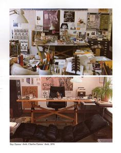 ray (above), charles (below) eames' desks