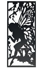 WD-Fairy 1800mm x 900mm - black steel Decorative Screens Garden Screen  Wall Art