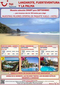 #Fuerteventura, #Lanzarote y #Lapalma destinos #smart para el mes de #septiembre