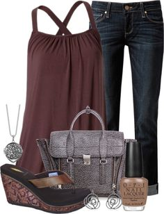 trapeze tank & skinny cropped jeans...CUTE!!