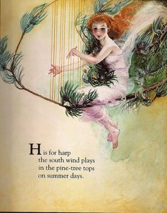 """H is for Harp"" - Fanny Y. Cory by docarelle (away for a while), via Flickr"