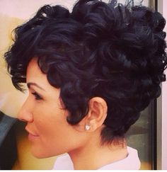 Short and curly!