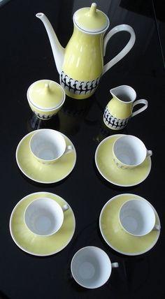 ORIGINAL OSKAR SCHLEGELMILCH MOCCASERVICE in Antiquitäten & Kunst, Porzellan & Keramik, Porzellan | eBay