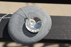 sterling silver name charm by thecharmedwife on Etsy, $32.00