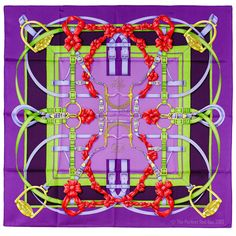 New Authentic Hermes Grand Manege Silk Scarf Henri DOrigny Equestrian Purple   eBay