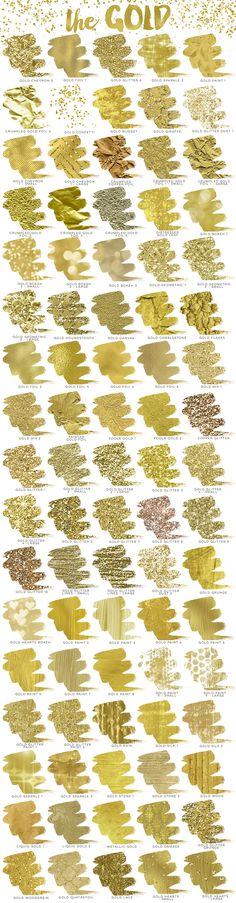 Gold Rush Creative Kit by Studio Denmark on Creative Market