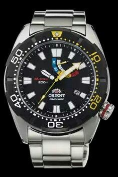 ORIENT M-FORCE 200m to be released this year is an authentic mechanical diver's watch made in Japan. It was designed as a modern variation of the M-FORCE - EX00, the first M-FORCE model which was released in 1997 and enjoyed explosive popularity in overseas markets.