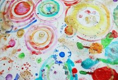 Circle Art Activity for Kids- open ended process