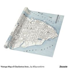 Vintage Map of Charleston South Carolina (1898) Wrapping Paper
