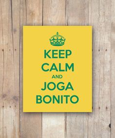 """$5 Print It Yourself """"Keep Calm and Joga Bonito"""" 8x10 INSTANT DIGITAL DOWNLOAD #worldcup #brazil #soccer"""