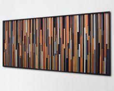 Rustic Metallic Modern Wood Wall Art Metal Art by ModernRusticArt