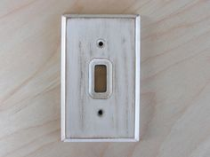 Wood Light Switch Cover, Switch Plate, Wall Plate – Shabby, Rustic, Vintage-look, White - pinned by pin4etsy.com