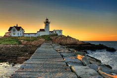 Eastern Point Lighthouse in Gloucester, Massachusetts - I used to go and sit here all the time, now I have to travel there. New England States, New England Travel, Oh The Places You'll Go, Places To Visit, New England Lighthouses, Gloucester Massachusetts, All Nature, New York, Day Trips
