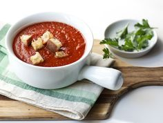 Roasted Tomato Soup – This incredible dairy-free tomato soup recipe is the perfect, healthy first course for a family dinner.