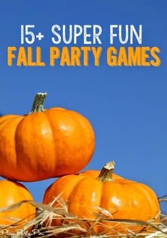 Hosting a fall party? These fun fall games are hilarious for kids, adults and any age in between! Great for fall, Halloween, or Thanksgving parties! Fall Party Games, Fall Games, Adult Party Games, Outdoor Party Games, Halloween Games, Fall Halloween, Halloween Party, Halloween Carnival, Fall Harvest Party