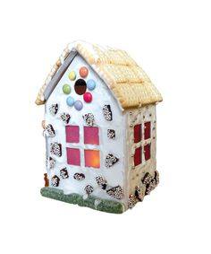 DIY Kit Gingerbread House by bibabox on Etsy Diy Kits, White Christmas, Bunt, Gingerbread, Etsy, Outdoor Decor, House, Home Decor, Led Tea Lights