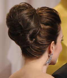 Want to make a big statement with huge hair? Try Tina Fey's complex, voluminous updo.