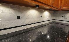 backsplash ideas for granite countertops | White Cabinets Black Countertop Backsplash Ideas
