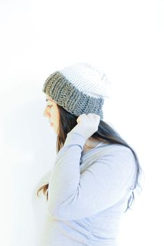 Knit Slouchy Hat / Winter Toque / Barley & Fisherman by daynightrose on Etsy