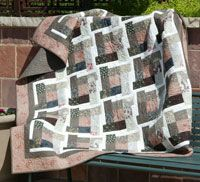 Hit the Bricks by Ramona Sorensen in Best Fat Quarter Quilts 2014.