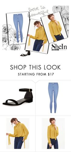 """""""shein"""" by valdes7 ❤ liked on Polyvore featuring Stuart Weitzman and New Look"""