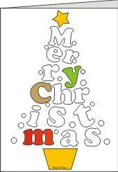 biglietto merry christmas