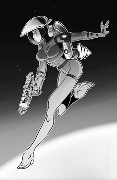 Steampunk Astronaut Pinup by willterrell Science Fiction Art, Pulp Fiction, Character Art, Character Design, Space Girl, Photoshop, Sci Fi Movies, Pulp Art, Retro Futurism