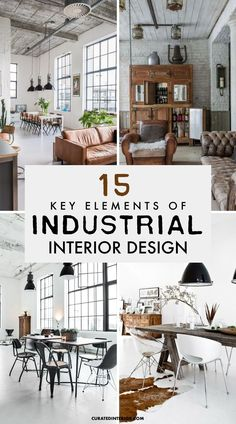 15 Key Elements of Industrial Interior Design - I have seen industrial Farmhouse homes with industrial design elements and I've also seen industrial Scandinavian homes with factory style touches. It's possible to mix industrial style with many different decorative tastes. You don't have to go full-on industrial to get elements of this style in your home. Industrial Design Furniture, Industrial Living, Industrial Interiors, Industrial Style, Furniture Design, Industrial Farmhouse, Furniture Decor, Home Office, Scandinavian Home