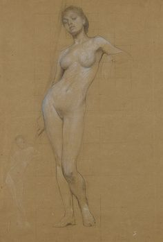 "Herbert James Draper (1864-1920), ""Study of a female nude"" by sofi01, via Flickr"