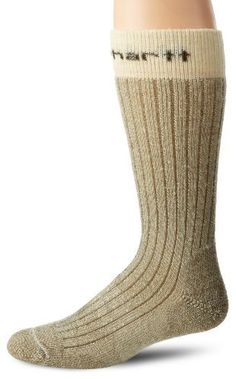 Carhartt Men's Steel Toe Arctic Wool Boot Sock Carhartt. $15.99. Machine Wash. 85% Wool/9% Nylon/5% Acrylic/1% Spandex. Ribbed construction guarantees maximum stretch and comfort.. High abrasion fibers in the heel and toe deliver unsurpassed durability.