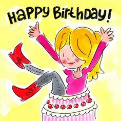 Happy Birthday (vallend in de taart) - Blond Amsterdam