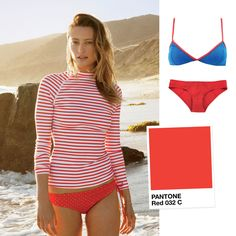 http://media.vogue.com/files/Inspired by our June issue's feature on Pret-A-Surf and J.Crew's swimwear collaboration, featuring cherry-red rash guards and polka-dotted briefs, we decided to turn up the heat and spotlight Pantone Red 032 C for our monthly series, Color Correct.