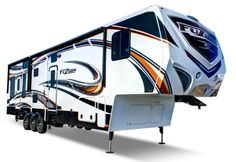 Keystone RV image of Fuzion fifth wheel exterior 5th Wheel Camper, Fifth Wheel Campers, Fifth Wheel Trailers, Cool Campers, Campers For Sale, Rv For Sale, Toy Hauler Travel Trailer, Rv Trailers, Camping Trailers