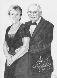 "Pencil drawing - ""Margaret & Ron"""