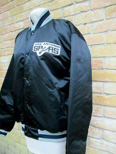 74ea3a35 Details about Vintage 80s Starter NBA San Antonio Spurs Nylon Satin Jacket Size  Youth Large